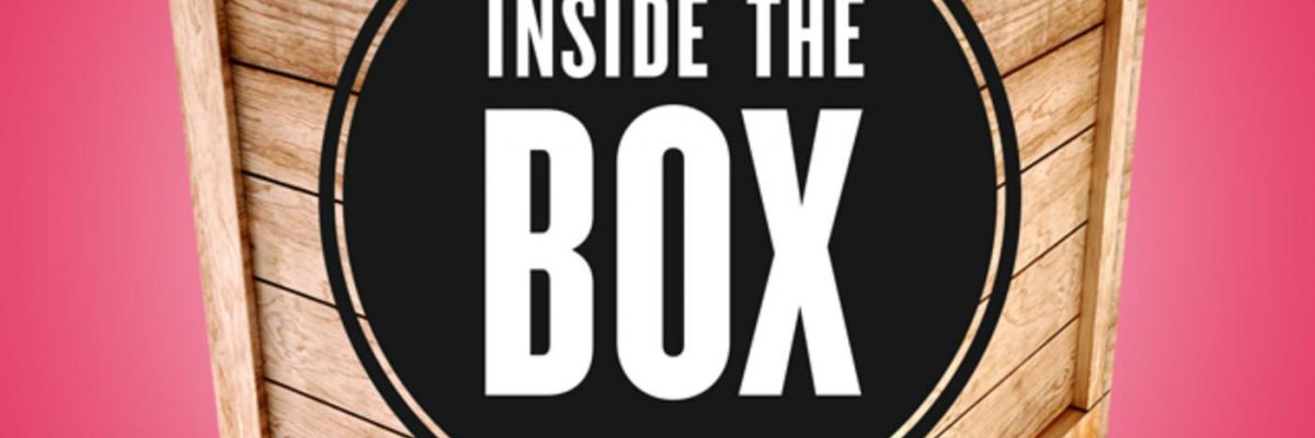 logo of the Inside the Box Podcast showing a wooden box
